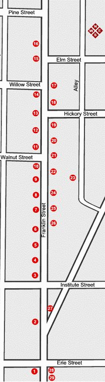 North Franklin Street tour map