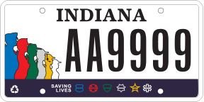 IN First Responders License Plate