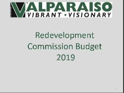 2019 Redevelopment Commission Budget