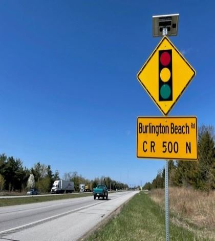 INDOT Makine Safety Improvements at 49 and Burlington Beach